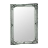 See more information about the Bevelled Glass Mirror with Wooden Frame (80 x 115cm) - Silver