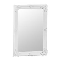 See more information about the Bevelled Glass Mirror with Wooden Frame (80 x 115cm) - White