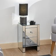 See more information about the Venetian Slim Bedside Mirrored 2 Drawers