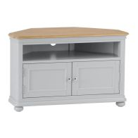 See more information about the Mulbarton TV Unit Grey & Oak 2 Door 1 Shelf