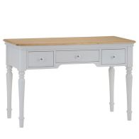 See more information about the Mulbarton Dressing Table Grey & Oak 3 Drawer
