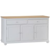 See more information about the Mulbarton Sideboard Grey & Oak 3 Door 2 Drawer