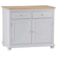 See more information about the Mulbarton Sideboard Grey & Oak 2 Door 2 Drawer
