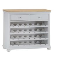 See more information about the Mulbarton Wine Rack Grey & Oak 4 Shelf 2 Drawer