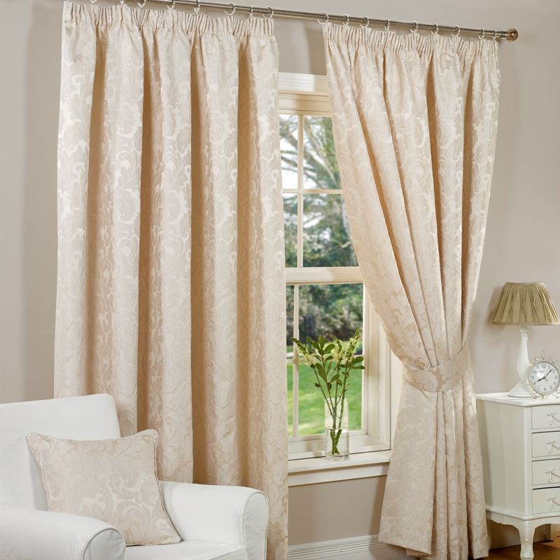 "Monaco Curtains (90"" Width x 90"" Drop) - Natural"