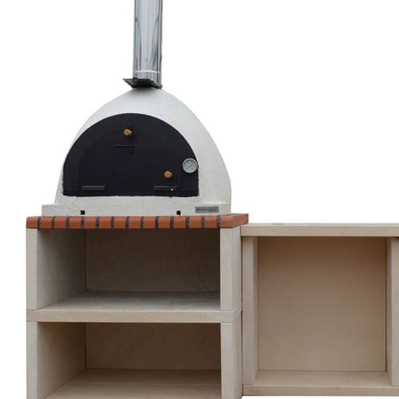 Napoli Outdoor Kitchen Bbq And Wood Burning Pizza Oven Buy Online At Qd Stores