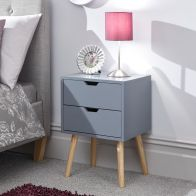 See more information about the Nyborg Bedside Dark Grey 2 Drawers