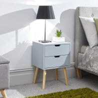 See more information about the Nyborg Bedside Light Grey 2 Drawers