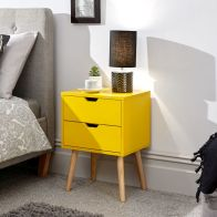 See more information about the Nyborg Bedside Yellow 2 Drawers