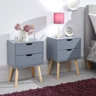 See more information about the Nyborg Bedside Dark Grey 2 Drawers - Set of 2