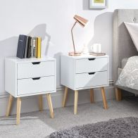 See more information about the Nyborg Bedside White 2 Drawers - Set of 2