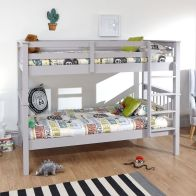 See more information about the Novaro Pine Bunk Bed 3ft Grey Painted Finish Bed Frame