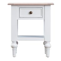 See more information about the Ebenezer Oak 1 Drawer Lamp Table