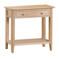See more information about the Bayview Console Table Oak 1 Shelf 1 Drawer