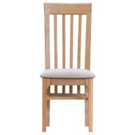 See more information about the Bayview Light Oak Slat Back Dining Chair