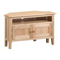 See more information about the Bayview Corner TV Unit Oak 2 Door 1 Shelf