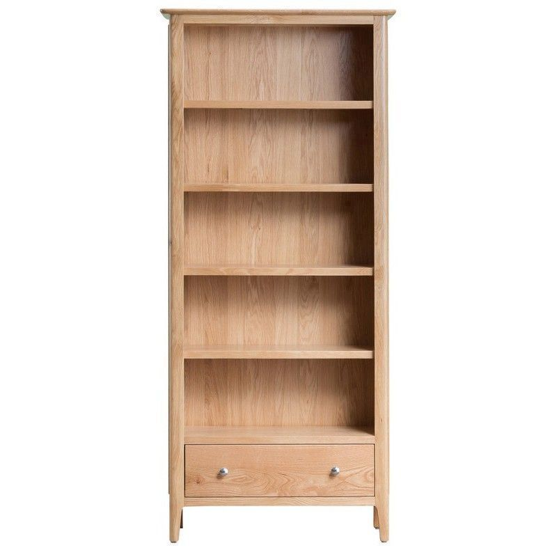 Bayview Light Oak Large 5 Shelf Storage Bookcase