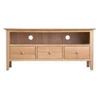 See more information about the Bayview Light Oak Large 3 Drawer TV Cabinet