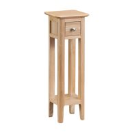 See more information about the Bayview Plant Stand Table Oak 1 Drawer