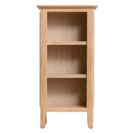 See more information about the Campton Oak Small Narrow 3 Shelf Bookcase