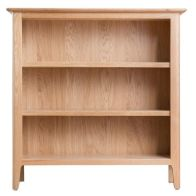 See more information about the Campton Oak Small Wide 3 Shelf Bookcase