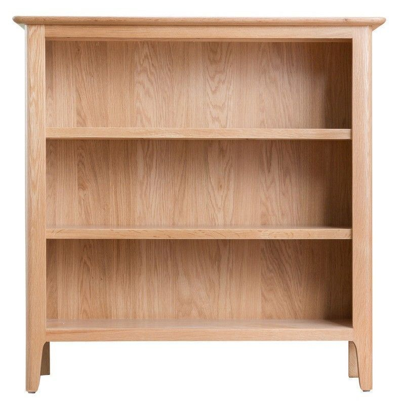 Bayview Light Oak Small Wide Storage Bookcase
