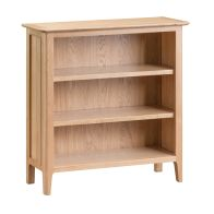 See more information about the Bayview Small Wide Bookcase Oak 3 Shelf