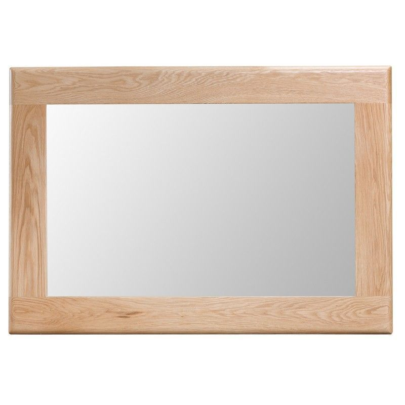 Bayview Light Oak Wall Mirror with Wooden Frame