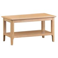See more information about the Bayview Coffee Table Oak 1 Shelf
