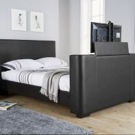 See more information about the Newark Double Bed 4ft 6in Black TV Bed Frame