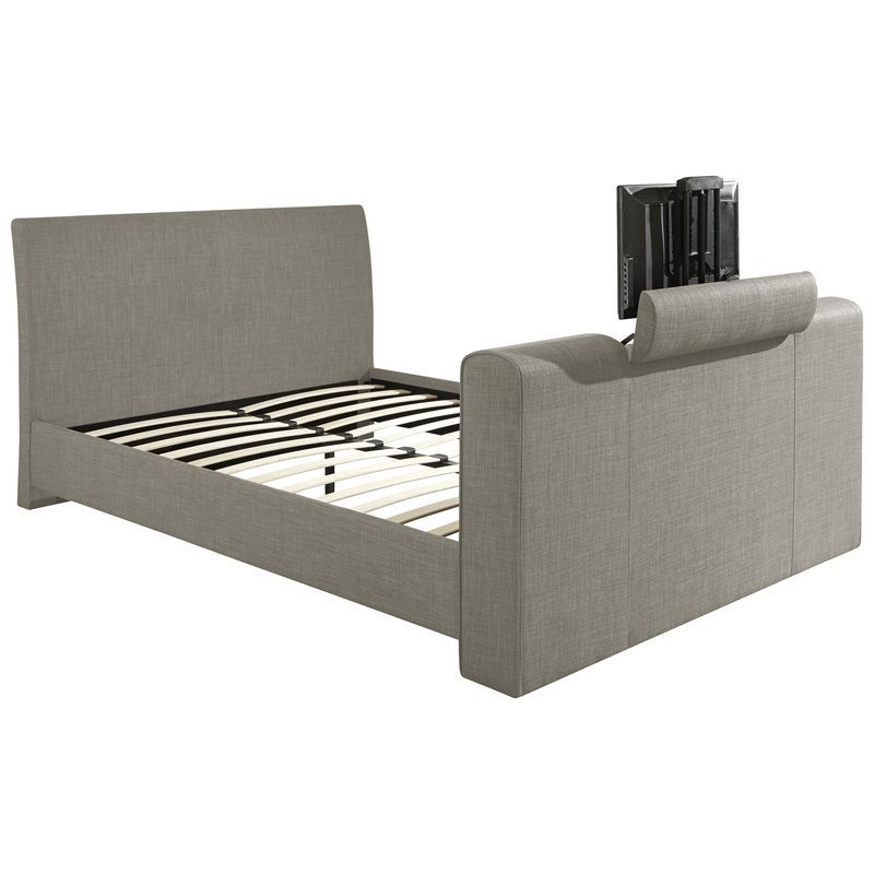 Brooklyn Fabric King Size Bed 5ft Light Grey Tv Bed Frame Buy