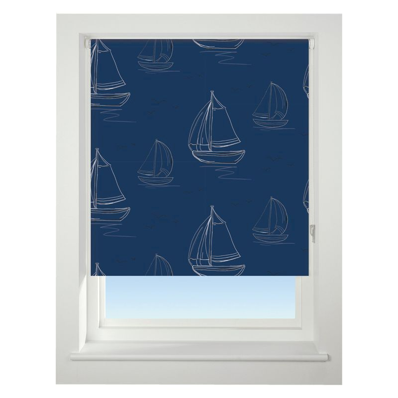 Universal 90cm Blue Boats Daylight Roller Blind