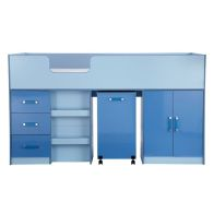 See more information about the Ottawa 2 Tones Blue Midsleeper Single Bed Unit