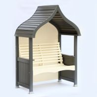 See more information about the AFK Premium Orchard Arbour Charcoal & Cream 2 Seat