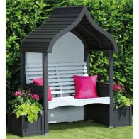 See more information about the AFK Premium Orchard Arbour Charcoal & Stone 2 Seat