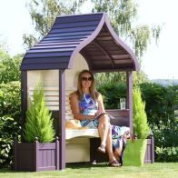 See more information about the AFK Premium Orchard Arbour Lavender & Cream 2 Seat