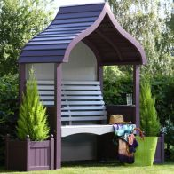 See more information about the AFK Premium Orchard Arbour Lavender & Stone 2 Seat