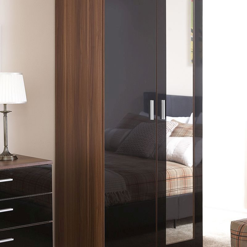 Free Delivery Available! OTTAWA 2 DOOR MIRROR WALNUT