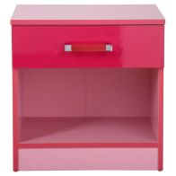 See more information about the Ottawa 2 Tones Pink Bedside Cabinet