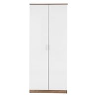 See more information about the Ottawa White Gloss & Oak Finish 2 Door Wardrobe