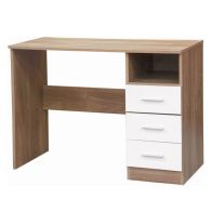 See more information about the Ottawa White Gloss & Oak Finish Study Desk