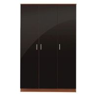 See more information about the Ottawa Black & Walnut Finish 3 Door Wardrobe