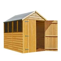 See more information about the Shire Overlap Garden Shed & Windows 7' x 5'