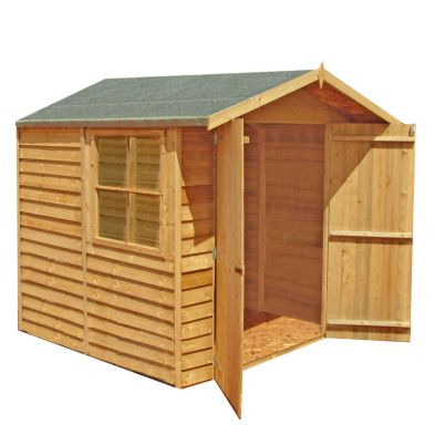 Shire Overlap With Window Garden Shed (7' x 7')