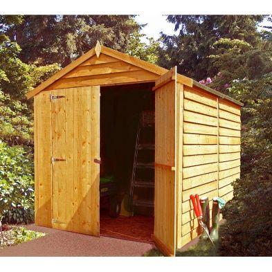 Garden Shire Overlap Value Apex Double Door Shed 8' X 6'