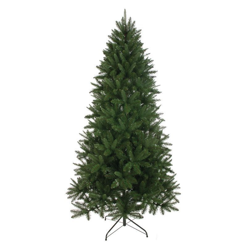 210cm (6 Foot 10 inch) Green Rockingham Pine 1308 Tips Christmas Tree