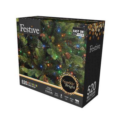 520 LED Multicolour 12.9m Fairy Christmas Tree Outdoor Lights