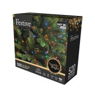 See more information about the 520 LED Multicolour Outdoor Animated Christmas Tree Lights Mains 12.9m