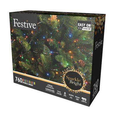 760 LED Multicolour 18.9m Fairy Christmas Tree Outdoor Lights