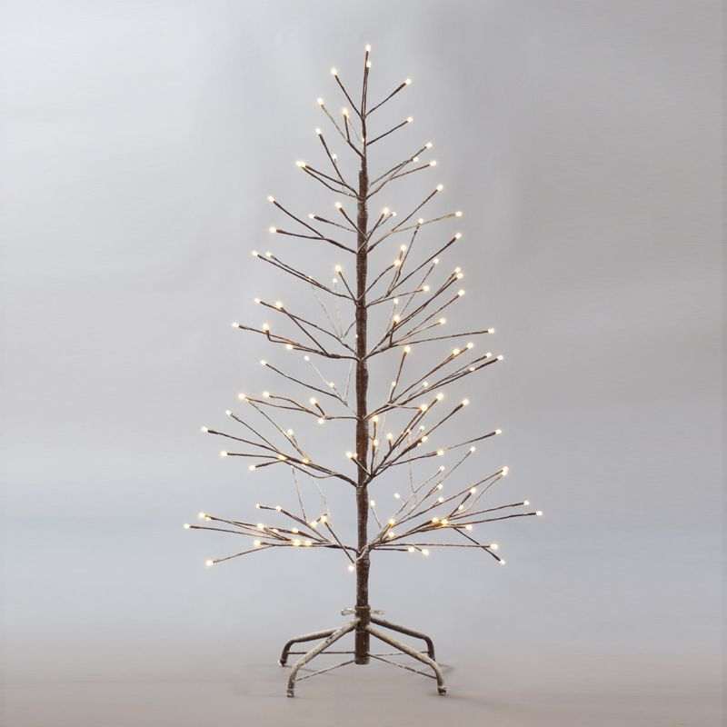 232 Warm White LEDs 180cm Snowy Twig Christmas Tree - 232 Warm White LEDs 180cm Snowy Twig Christmas Tree - Buy Online At